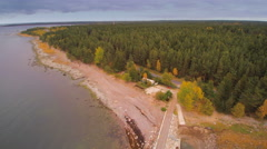 From an aerial view of the Lahemaa Park Stock Footage