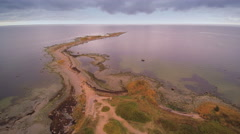 Landscape shot of Purekkari cape in an aerial view Stock Footage