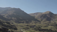 Snowdonia Ogwen Valley North Wales Stock Footage