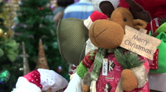 Reindeer puppet for sale in Hong Kong Stock Footage