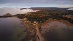 The aerial view of the mainland where the cape is located Stock Footage