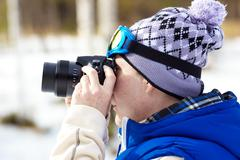 Sports photographer - stock photo