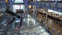 Interior of the main HSBC building and regional headquarters in Hong Kong Stock Footage
