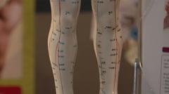 Chakra healing model yoga training Stock Footage