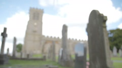 Old English Church Made From Sandstone Stock Footage