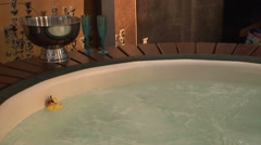 Hot tub jacuzzi bath bubbling Stock Footage