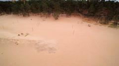 The wide sand of Vosu beach in Estonia Stock Footage