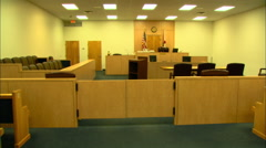 Wide Shot of Florida State Courtroom HD Video Stock Footage