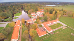 The lake of Vihula in the middle of the village Stock Footage