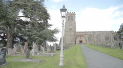 Old English Church Made From Sandstone - stock footage