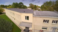 An apartment like building in the village Stock Footage