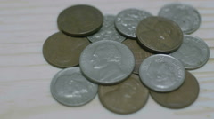 American one cent coins - stock footage