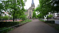 A view of the Saint Maurice church. Stock Footage
