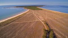The island of Saaremaa in Estonia Stock Footage