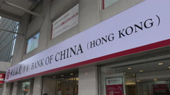 Hong Kong branch of Bank of China Stock Footage