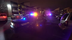 Police Vehicle At Crime Scene Stock Footage