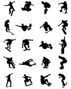 Skate jumpers Stock Illustration