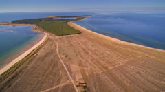 The large open field from the shore in Saaremaa Stock Footage