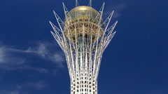 Bayterek timelapse is a monument and observation tower in Astana.  Main symbol Stock Footage