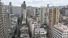Residential neighborhood in Kowloon, property prices, real estate in Hong Kong Stock Footage