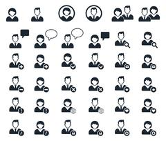 People icon. Human Resources Icons Stock Illustration