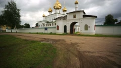 Resurrection man Monastery in Uglich, Russia. Stock Footage