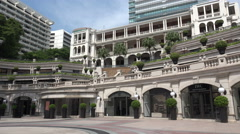 Facade of the 1881 Heritage building in Hong Kong Stock Footage