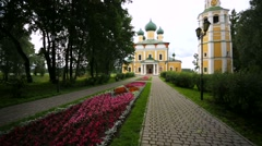 Walk along a streets of Uglich town. Stock Footage