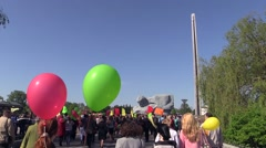 Parade in the 70th Victory Day in the Great Patriotic War on May 9 in Brest Stock Footage
