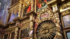 Church of Tsarevich Dmitry on the Blood inside Uglich kremlin. Stock Footage