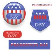 Presidents Day Icons Stock Illustration