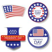 Presidents Day Icons - stock illustration