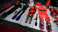 Professional all season rescue equipment. - stock footage