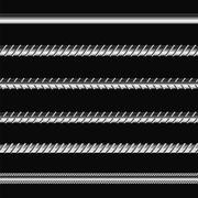 Different Metalic Bars Stock Illustration