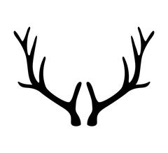 Deer antlers. Horns icon isolated on white background - stock illustration