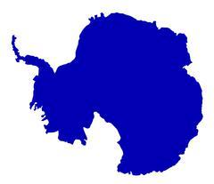 Antarctica SIlhouette Map - stock illustration
