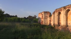 Bernardine monastery ruins. 1781 built Stock Footage
