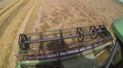 Combine Harvester in Action Stock Footage