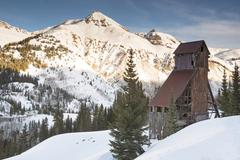 Red Mountain Pass - Yankee Girl Mine, Colorado - stock photo