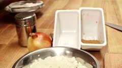 Stock Video Footage of Ingredients for future dish. Slider shoot. Close up