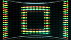 Led Color Stage square - stock footage