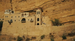 Monastery in Judean Desert 5 - stock footage