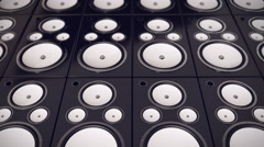 Audio Speakers background - stock footage