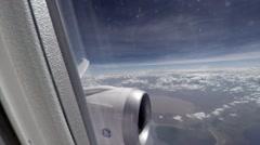 POV of plane passenger Stock Footage