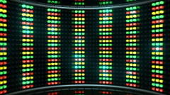Led Color Stage lines - stock footage