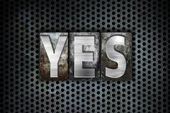 Yes Concept Metal Letterpress Type Stock Illustration