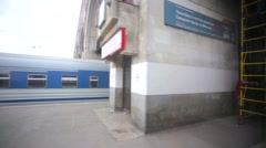 Train departs from Kazansky railway terminal. Stock Footage