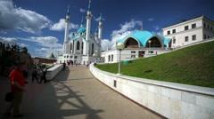 Kul Sharif Mosque in Kazan Kremlin. Stock Footage