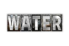 Water Concept Isolated Metal Letterpress Type Stock Illustration