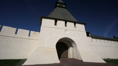 Kazan Kremlin, view of ancient fortification wall. Stock Footage
